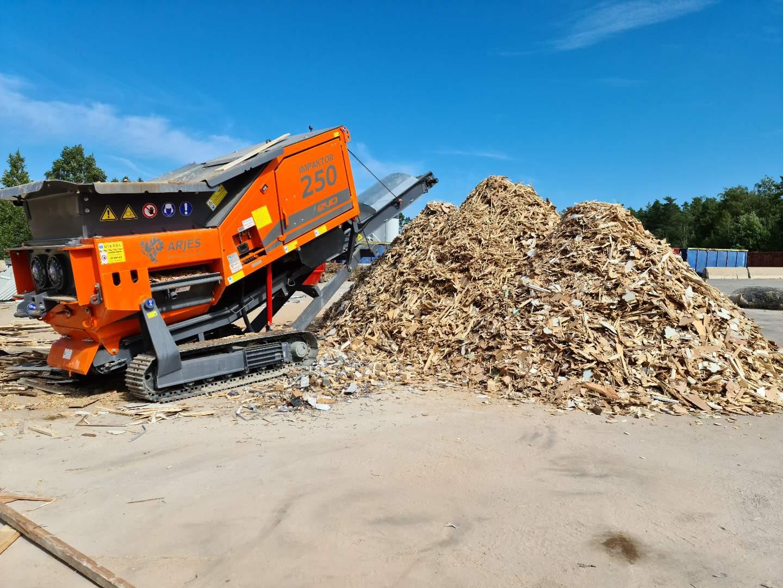 Arjes Impaktor 250 EVO shredder demo